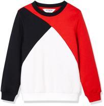 Kid Nation Girl's Sport Color Blocked Retro Fleece Sweatshirts