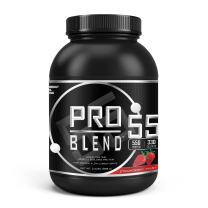 Pro Blend 55 Protein Powder – Low Carb Gainer & Meal Replacement Powder– Whey, Casein, Egg Albumin Protein –Strawberry Twist– 2.2 Pound