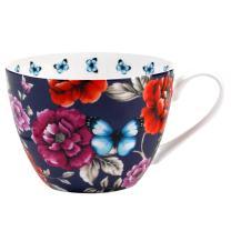 Portobello Wilmslow Vintage Summer Bone China Mugs Tea Cups, Set of 2