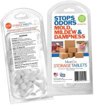 MustGo Storage Tablets - Protect Valuables in Storage from Mold and Mildew Odors (95 Pieces)