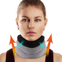 Neck Brace for Neck Pain and Support, Foam Cervical Collar for Vertebrae Whiplash Wrap Aligns and Stabilizes Spine, Adjustable Neck Support Brace for Spinal Pain and Pressure Relief
