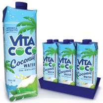 Vita Coco - Pure Coconut Water (1L x 6) - Naturally Hydrating - Packed With Electrolytes - Gluten Free - Full Of Vitamin C & Potassium
