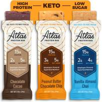 Atlas Bar - Keto Protein Bars, Classics Variety - High Protein, Low Sugar, Low Carb, Grass Fed Whey, Healthy Protein, Gluten Free, Soy Free (9-Pack)