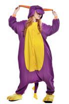 NEWCOSPLAY Unisex Adult Animal Purple Dragon Pajamas Halloween Costume