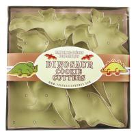 Fox Run Dinosaur Cookie cutters, 1 x 6 x 2.5 inches, Metallic