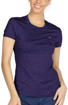 icyzone Workout Running Tshirts for Women - Fitness Athletic Yoga Tops Exercise Gym Shirts
