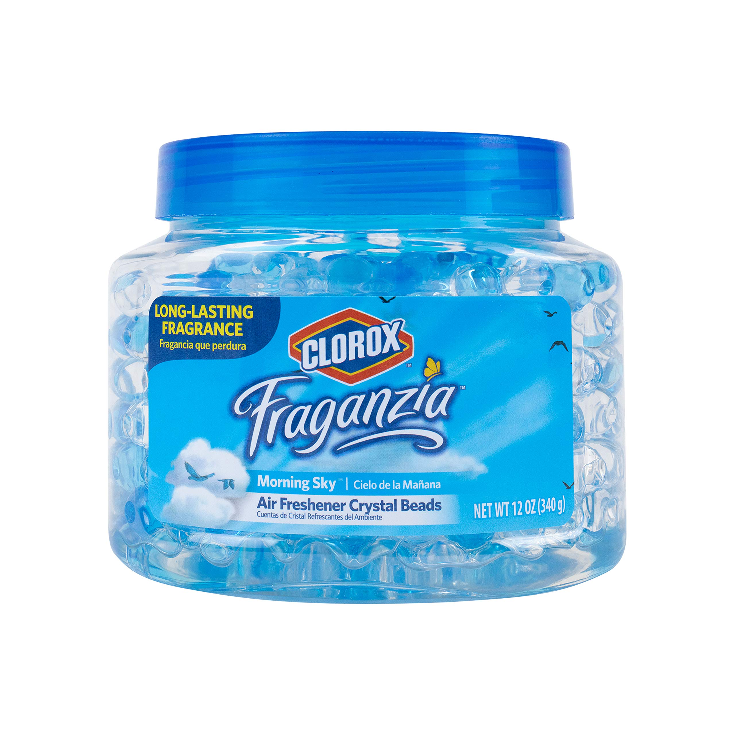 Clorox Fraganzia Crystal Beads Air Freshener | Long-Lasting Air Freshener Beads | Gel Beads Air Freshener in Spring Fragrance for Home, Bathroom, or Car, 12 Oz -6 Pack
