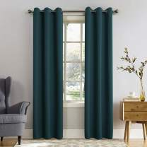 "Sun Zero Easton Blackout Energy Efficient Grommet Curtain Panel, 40"" x 108"", Teal"