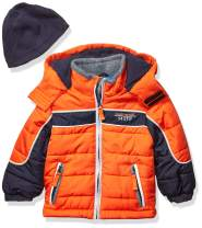 London Fog Boys' Toddler Color Blocked Puffer Jacket Coat with