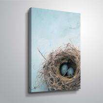 ArtWall 'Blue Nest' Gallery Wrapped Canvas Art by Elena Ray, 24 by 36-Inch
