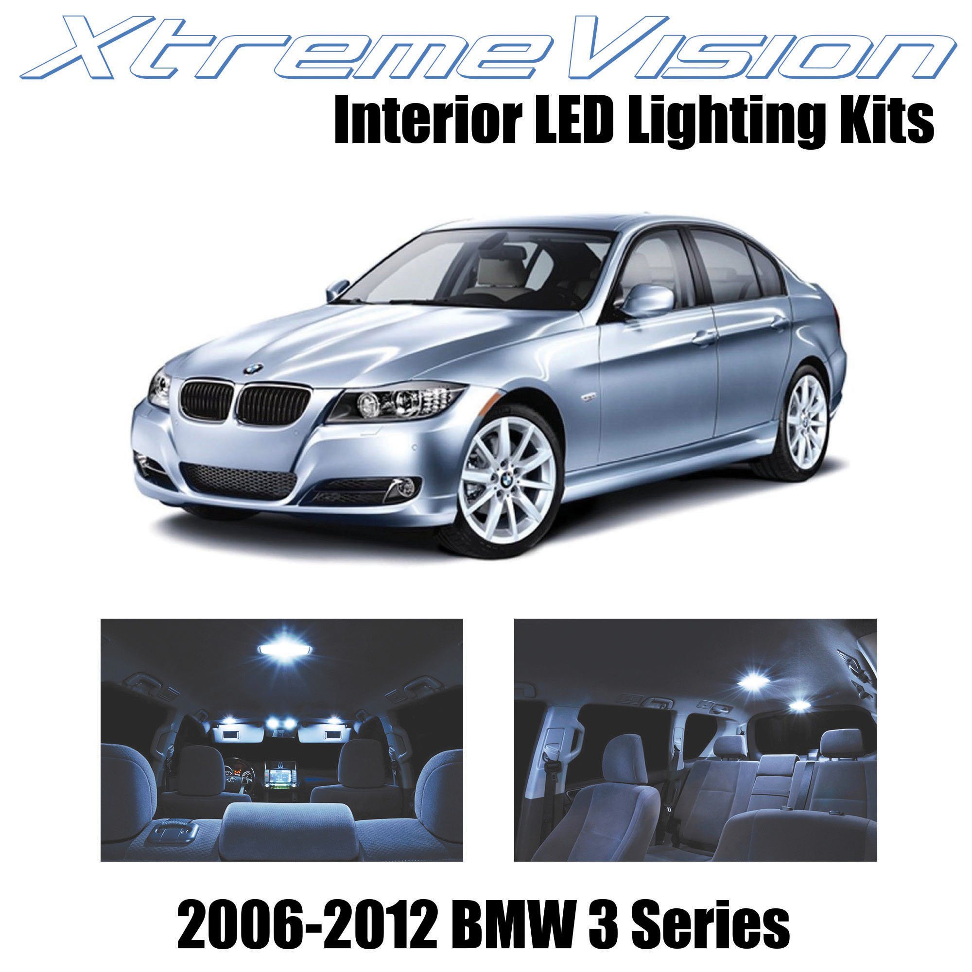 Xtremevision Interior LED for BMW 3 Series E90 E92 M3 2006-2012 (18 Pieces) Cool White Interior LED Kit + Installation Tool