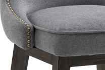 Sunpan Modern Ariana Swivel Barstool with Dark Grey Fabric
