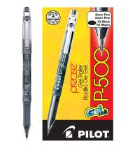 PILOT Precise P-500 Gel Ink Rolling Ball Stick Pens, Extra Fine Point, Black Ink, 12 Count (38600)