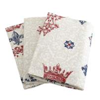 """Plush Home 100% Cotton Eco - Friendly Vintage Printed Kitchen Towels, Soft and Highly Absorbent Dish Towels, Household Cleaning Set of 3 