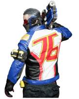 DAZCOS US Size Quality Leather Soldier76 Cosplay Jacket/Gloves