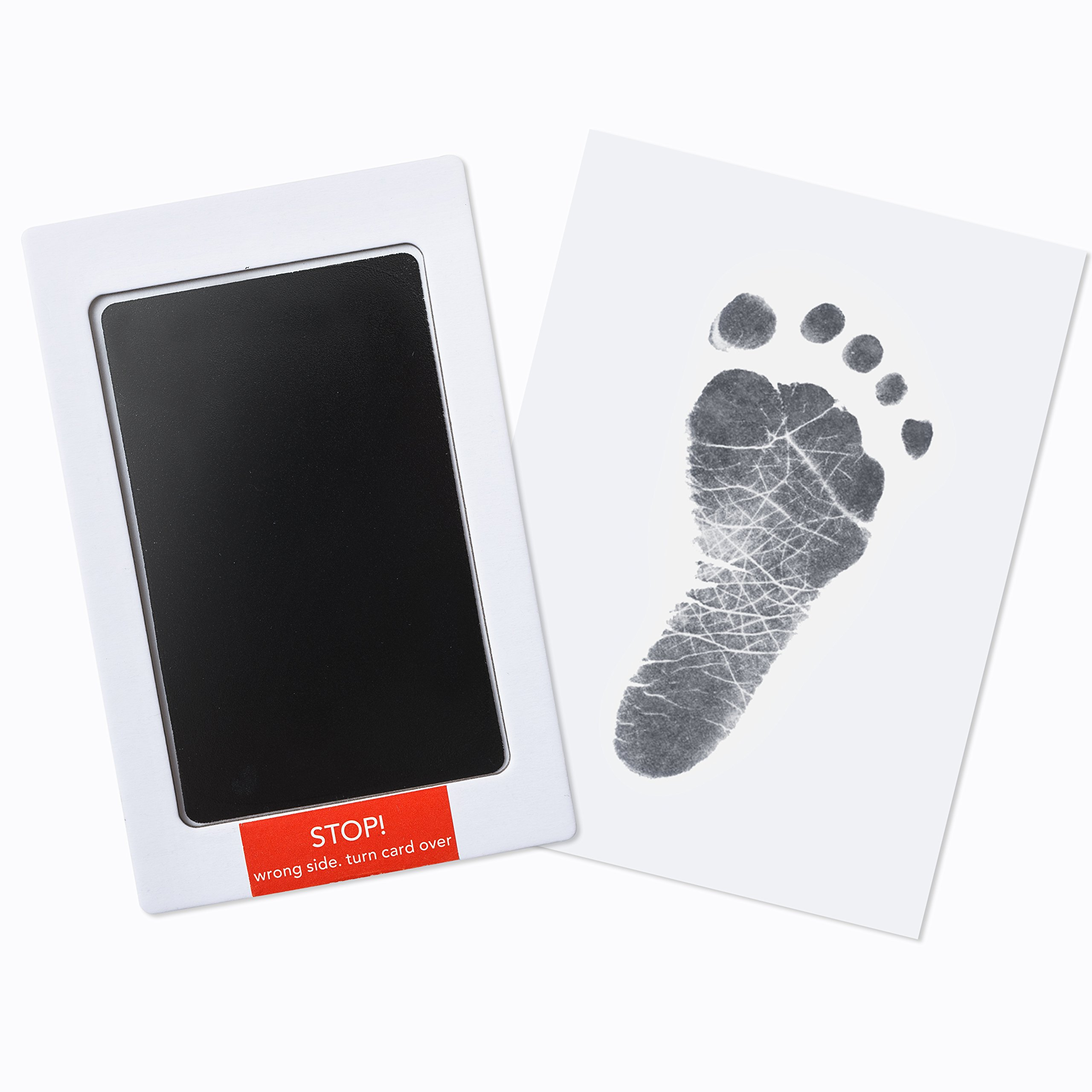 Premium No-Mess Ink Baby Footprint & Handprint Ink Pad | Safe and Non-Toxic Ink | Perfect New Baby Girl/Boy Shower Gift