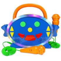Karaoke Machine for Kids with 2 Microphones, Includes 100 Pre-Loaded Songs, Record & Playback, Voice Changer, and Bluetooth - Perfect for Toddlers & Up!