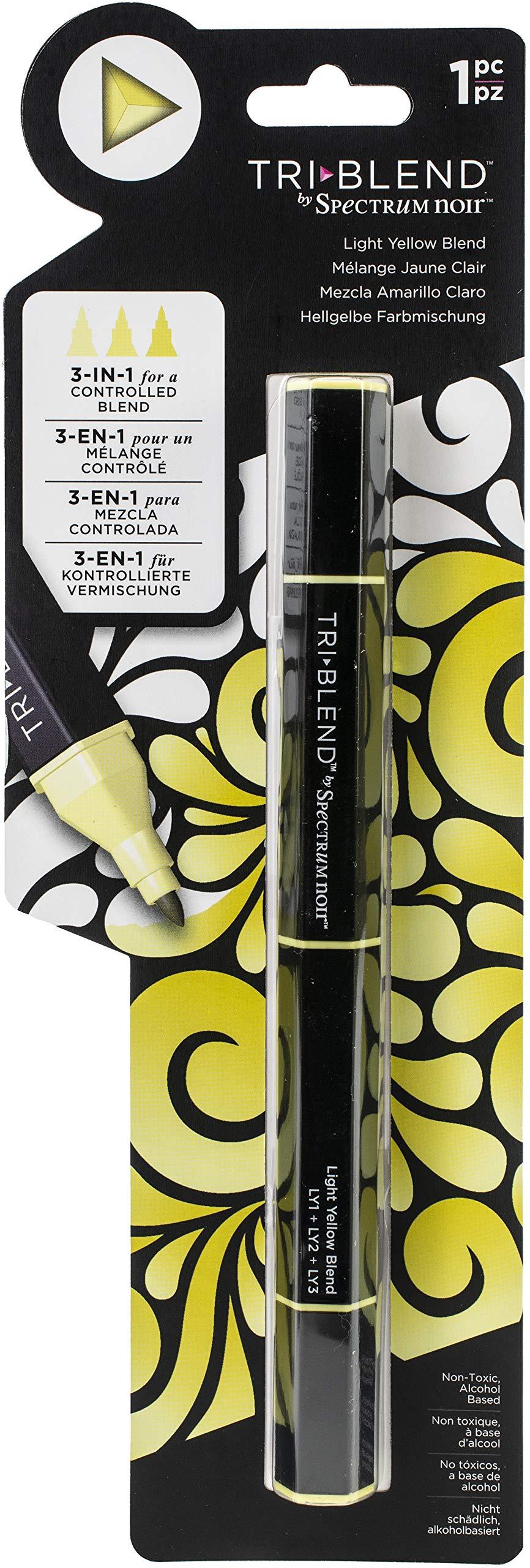 Spectrum Noir Blend Triblend Blendable Alcohol Marker 3 Colours in 1 Pen-Light Yellow