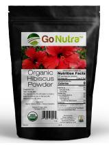 Hibiscus Powder Organic Certified 1 lb. (16 oz) Hibiscus Sabdariffa Non-Gmo