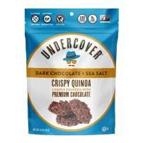 UNDERCOVER Chocolate Crispy Quinoa Snack - DARK CHOCOLATE + SEA SALT - Gluten-Free, Nut-Free, 8 Count Case of 2 oz. Bags