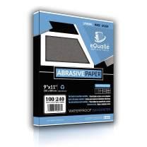 Sandpaper | 100 Sheets | Grit 240 | 9x11 | Waterproof Silicon Carbide Abrasive