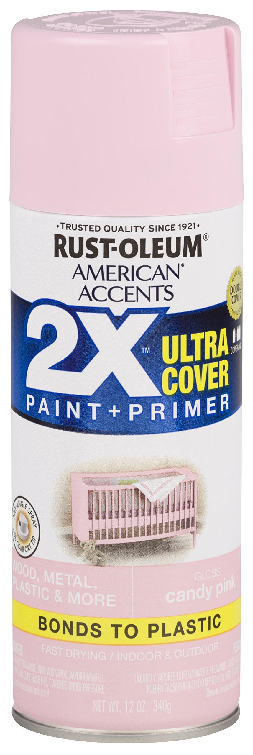 Rust-Oleum 327885-6 PK Spray Paint, Gloss Candy Pink