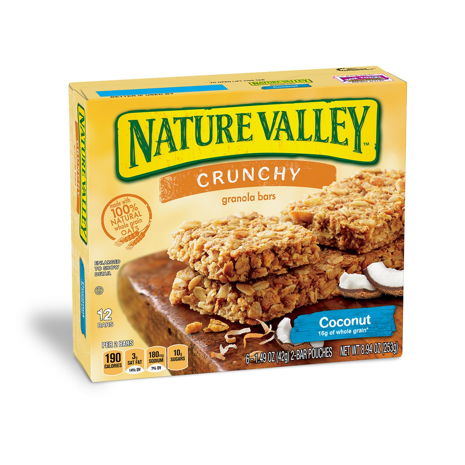 Nature Valley Crunchy Granola Bar Coconut 12 Bars In 6 - 1.49 oz 2-Bar Pouches