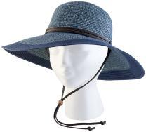 Sloggers 442GB Wo's Braided Sun Hat, Medium, Grey Blue