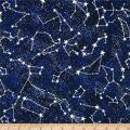 Timeless Treasures 0350520 Glow In The Dark Constellations Midnight Fabric by the Yard