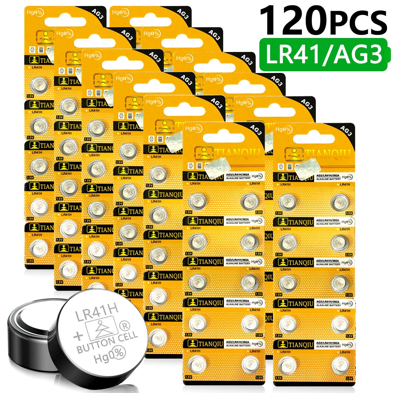 Homesprit (120PCs) Tianqiu AG3 LR41 SR41 L736 392 384 192 Battery 1.5V Button Cell Battery
