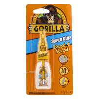 Gorilla Super Glue with Brush & Nozzle Applicator, 13.2 Gram, Clear, (Pack of 1)