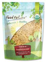 Organic Ground Golden Flaxseed Meal (Cold-Milled, Raw, Non-GMO, Kosher, Bulk) by Food to live — 2 Pounds