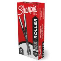 Sharpie Rollerball Pen, Arrow Point (0.7mm) Pen for Bold Lines, Black Ink, 12 Count