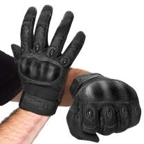 FREETOO Knuckle Tactical Gloves for Men Military Gloves for Shooting Airsoft Paintball Motorcycle Climbing and Heavy Duty Work