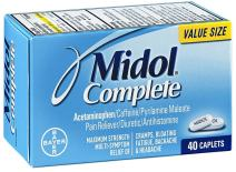 Midol Complete Maximum Strength Pain Reliever Caplets 40 ea (Pack of 5)