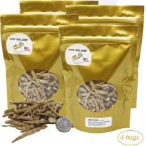 DOL Hand-Selected A Grade Cultivated Wisconsin American Ginseng Roots Fiber for Tea or Soup or Powder 美國威斯康辛州西洋參須 花旗參須 實惠四袋裝 16oz.(113g/Bag)
