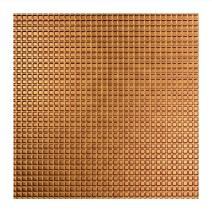 FASÄDE - Easy Installation Square Antique Bronze Lay in Ceiling Tile/Ceiling Panel (2' x 2' Tile)