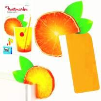 Fruitmarks Novelty Fruit Slice Bookmark Book Mark Reading Page Holder Book Lover Gift - Orange