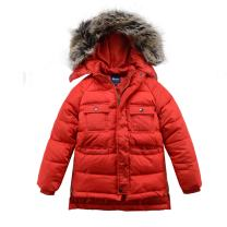 Hiheart Boys Winter Faux Fur Hooded Windproof Padded Puffer Jacket Thicken Coat