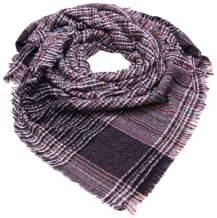 Women's Plaid Blanket Winter Scarf Oversized Shawl Cape Classic Tassel Warm Cozy Tartan Wrap,SC3