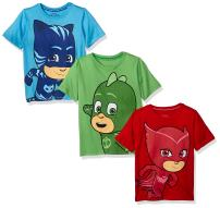 PJ MASKS Toddler Baby Boys' 3 Pack Short Sleeve Graphic T-Shirt
