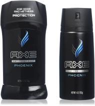 AXE Men's 2 Piece Body Spray and Antiperspirant Deodorant Stick Combo Pack, Phoenix