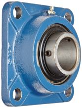 """SKF FY 1.11/16 TF Ball Bearing Flange Unit, 4 Bolts, Setscrew Locking, Regreasable, Contact and Flinger Seal, Cast Iron, Inch, 1-11/16"""" Bore, 4-1/8"""" Bolt Hole Spacing Width, 5740lbf Dynamic Load Capacity"""