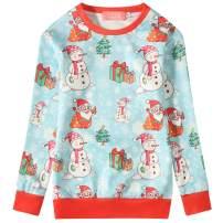 SSLR Big Girls' Xmas Crewneck Pullover Funny Ugly Christmas Sweatshirt