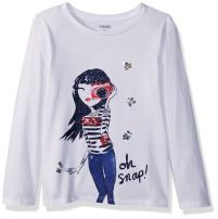 Gymboree Girls' Little Long Sleeve Sequin Graphic Tee