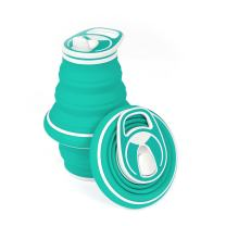 HYDAWAY Collapsible Pocket-Sized Travel Water Bottle - 21 oz. (Opal)