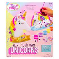 It's So Me! Paint Your Own Unicorns by Horizon Group USA, Paint & Decorate 2 Plaster Unicorns, Includes 6 Acrylic Paints, 5 Metallic Paints, Gemstones, Glitter, Sticker Sheet, Paint Brush & More