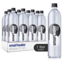 smartwater Alkaline 9+ph, 33.8 Fl Oz Bottles, Pack of 12