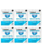 masque BAR Shield & Soothe Hydrogel Facial Mask (6 Pack) — Korean Under PPE Face Skin Care Treatment — Calms, Soothes, Hydrates and Heals Skin after Prolonged Use of Medical Mask — Evens Skin Tone