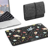 GMYLE MacBook Pro 13 inch Case 2018 2017 2016 Release A1989/A1706/A1708, Plastic Hard Shell, Fabric Storage Bag Travel Pouch, Keyboard Cover for Newest Mac Pro 13 Inch – Space Walk Set